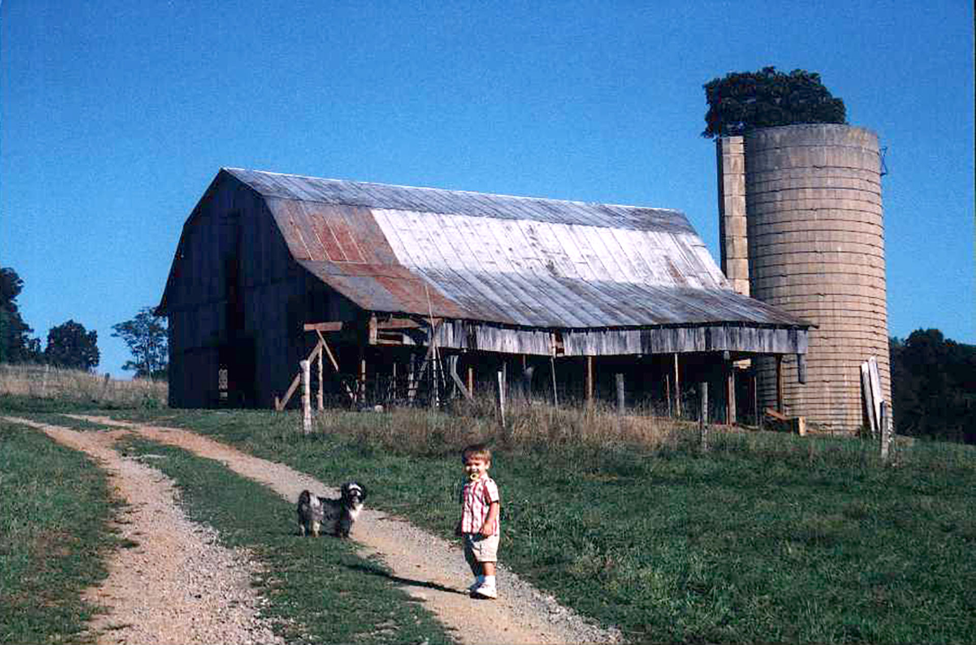 Valley View Farm History old barn historical